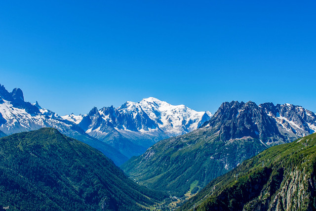 Le Mont-Blanc depuis Emosson