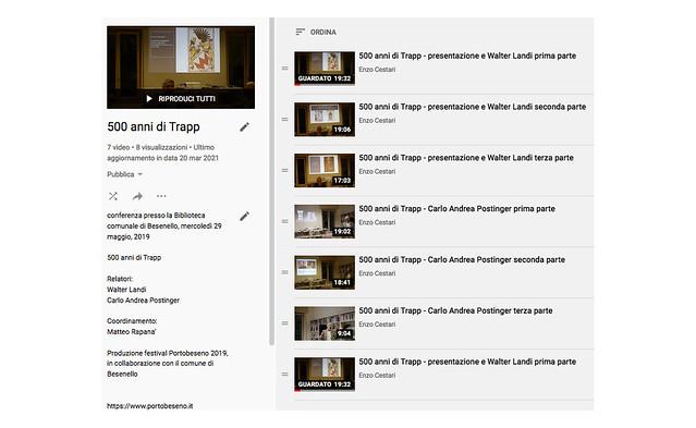 menu playlist Trapp Youtube