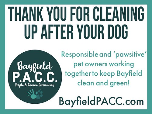 Bayfield PACC Sign