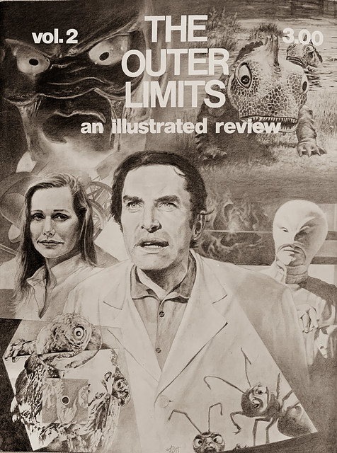 """""""The Outer Limits:  An Illustrated Review,"""" Volume 2, (1978).  Cover art by Joe Rutt."""
