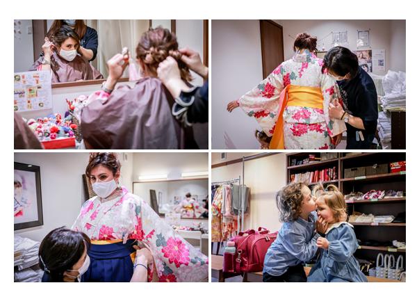 Scene of wearing Kimono, Inuyama Town, Aichi