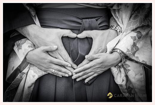 maternity photo - heart shaped hands