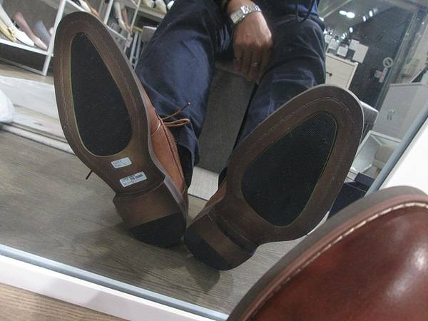 男生手工鞋