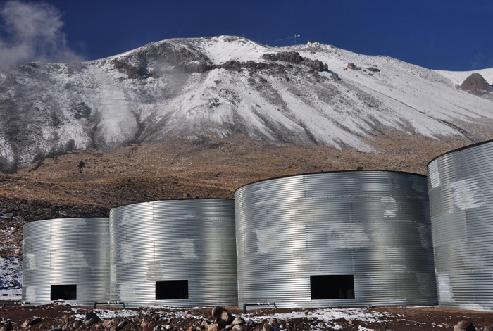 the High Altitude Water Cherenkov (HAWC) Cosmic Ray Observatory in Mexico