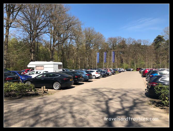 Drukke parkeeplaats