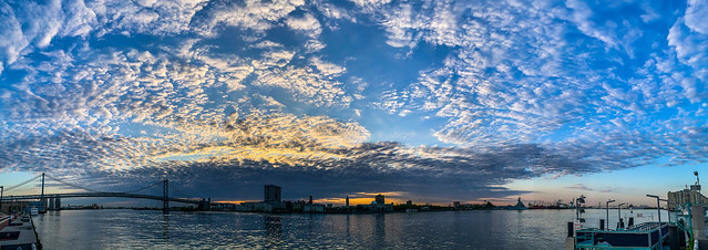 Penns Landing Morning Skyscape Pano