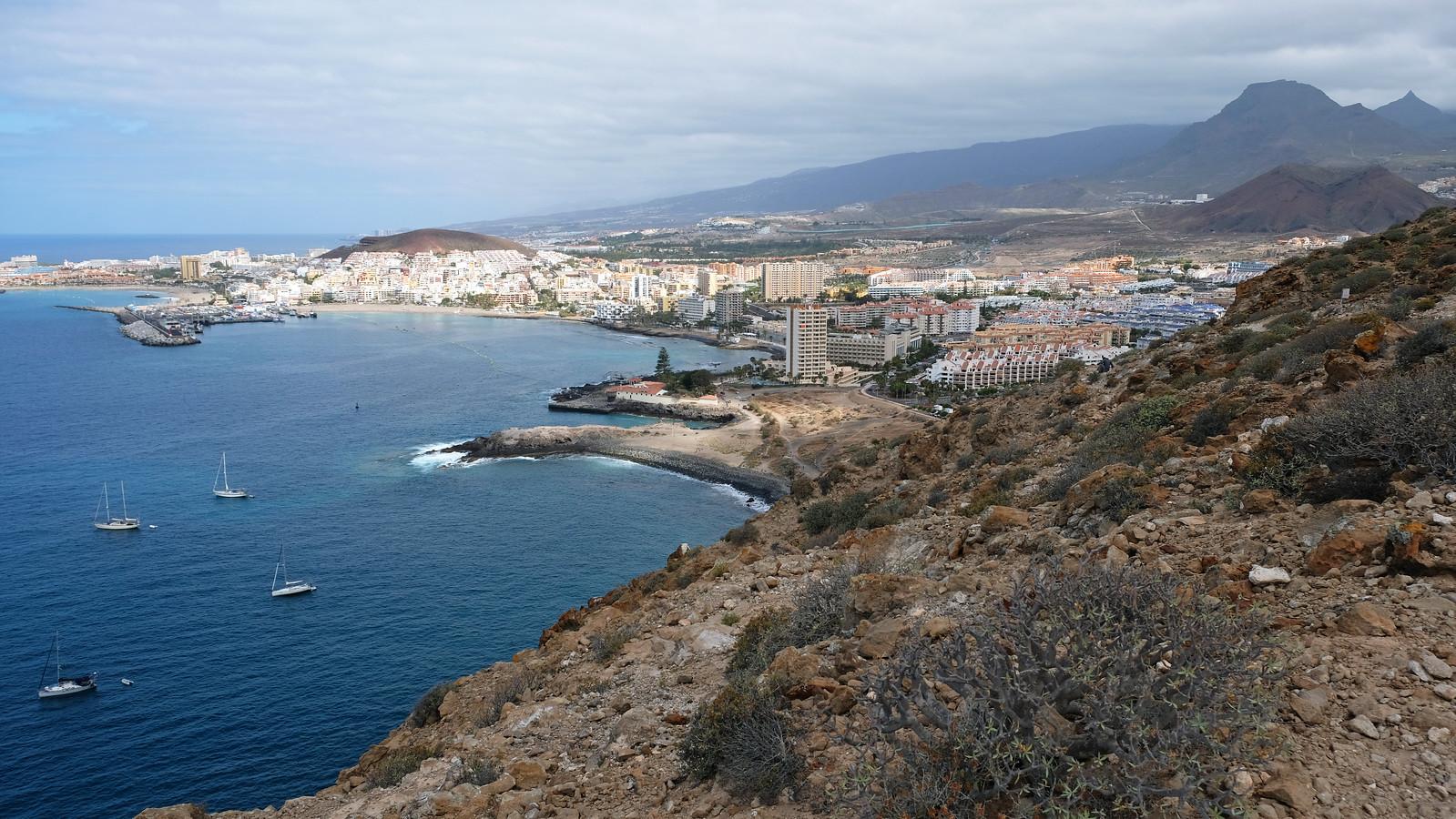 Coastal trail from Los Cristianos, Montaña de Guaza Natural Monument, Tenerife