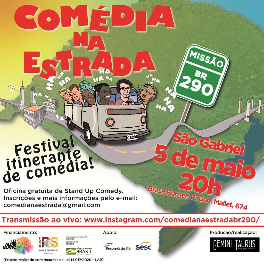 Vem aí o festival Comédia na Estrada - Missão BR-290 - de 5 a 8 de maio