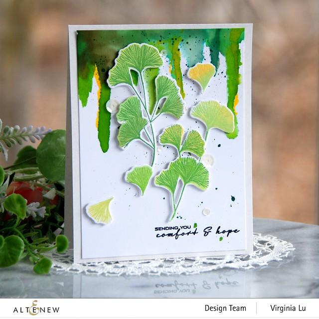 Altenew-Sweet Ginkgo Stamp Set- Sweet Ginkgo Die Set-001
