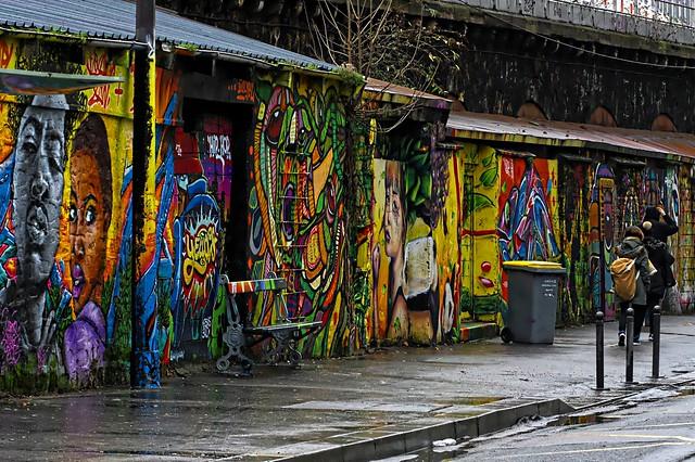 Rue de l'Ourcq par temps de pluie