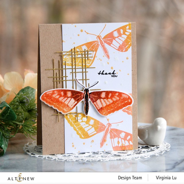 Altenew-Dovetail Butterflies Stamp & Die Bundle-Linear Crossroads Die-001