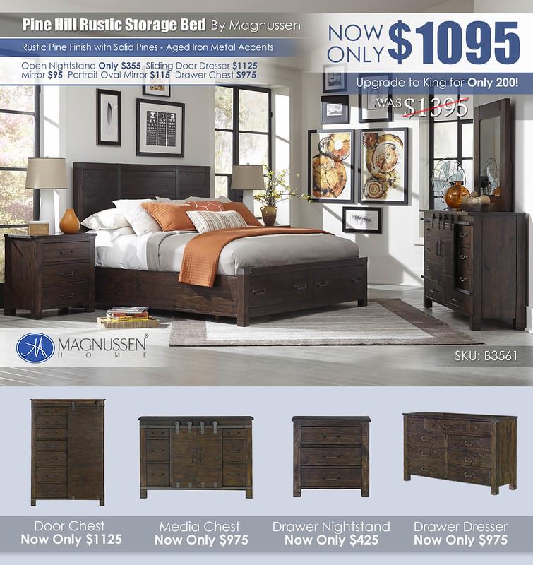 Pine Hill Rustic Storage Bed B3561_2021_Alt
