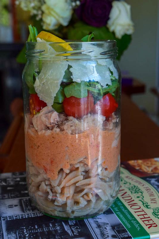 Salade en bocal (salad jar italienne)