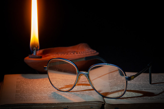 Reading in the light of the fire - My entry for todays
