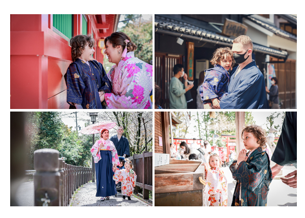 family photo session for expatriates in Inuyama town, Aichi, Japan