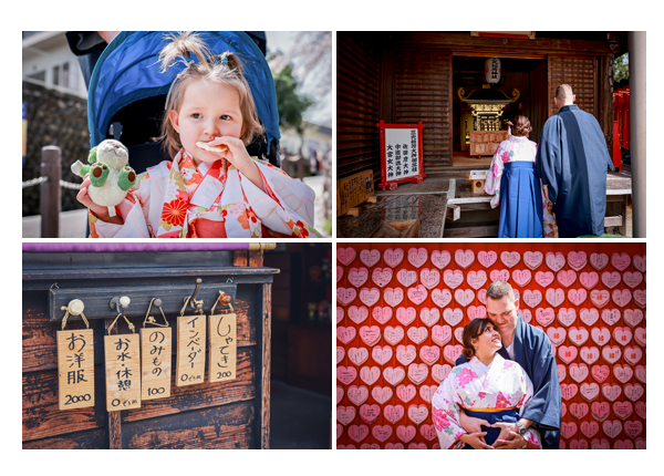 Family photo shooting, Kimono session, Inuyama town, Aichi, Japan