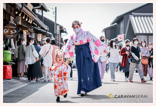 family photo session for expatriates in Inuyama town, Aichi