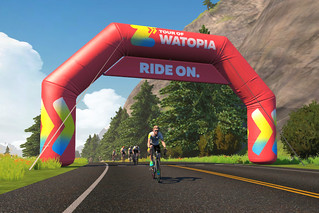 Tour of Watopia archway