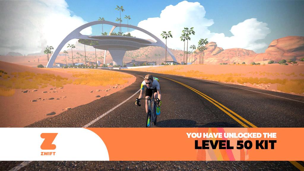 Zwift Level 50 banner