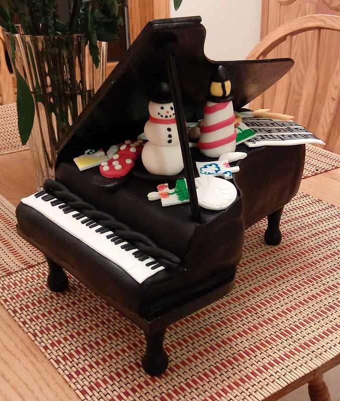 Piano Cake from Sweets & Treats By K