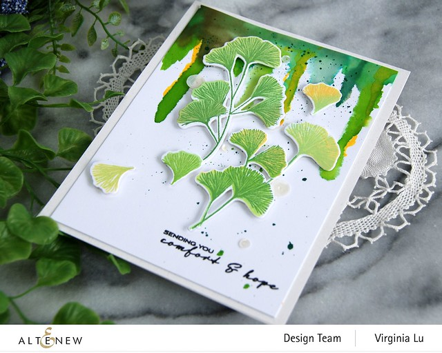 Altenew-Sweet Ginkgo Stamp Set- Sweet Ginkgo Die Set-002