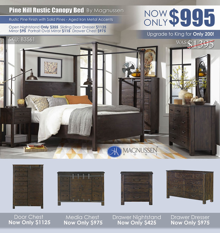 Pine Hill Rustic Canopy Bed B3561_2021