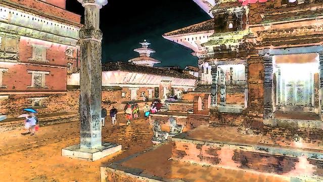 Nepal - Patan - Durbar Square - 99bb