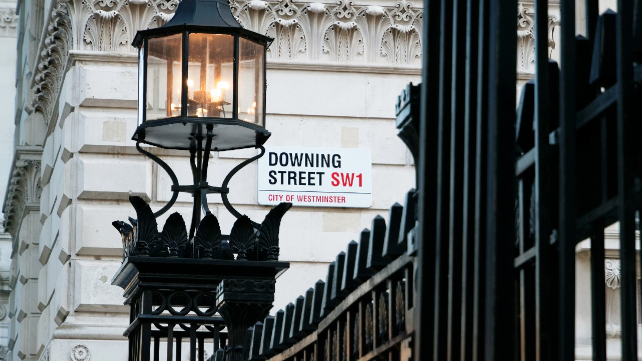 Sign for Downing Street London