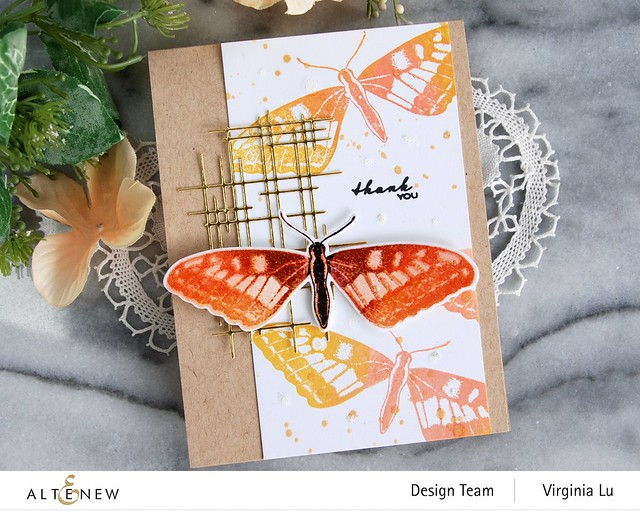 Altenew-Dovetail Butterflies Stamp & Die Bundle-Linear Crossroads Die-002