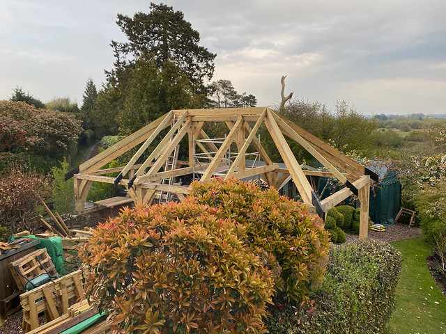 Softwood roof - end of day 1