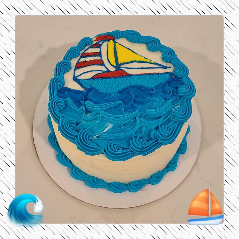Sailboat Birthday Cake by Naties Cakes