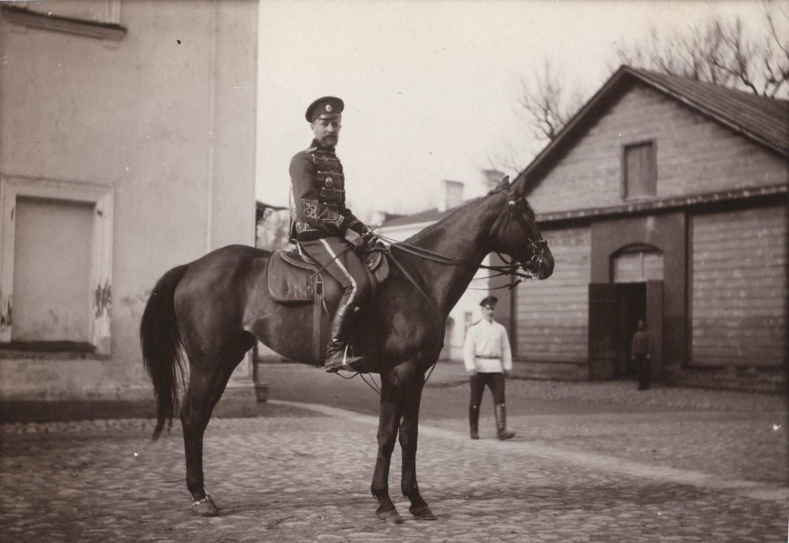1907. Греве А.А. верхом на лошади