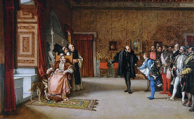 Cuadro de Eduardo Rosales sobre Carlos V