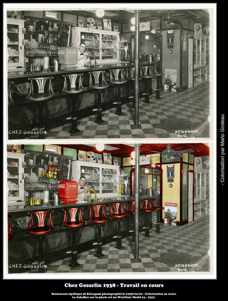 Chez Gosselin 1938 - Travail en cours
