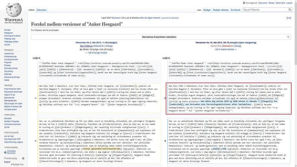 stått på wikipedia siden 2013