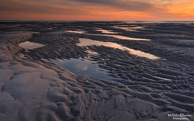 Sunset at the Maasvlakte