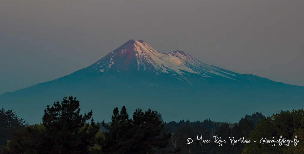Volcán Llaima antes de la Super Luna