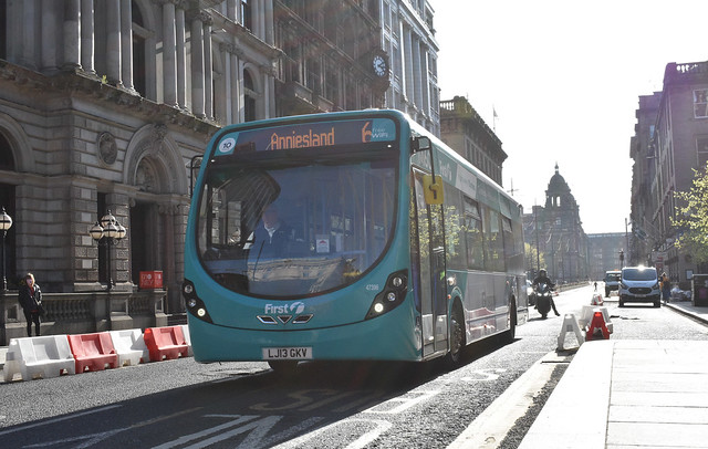 First Glasgow Wright Streetlite DF 47396 Service 6 rare working