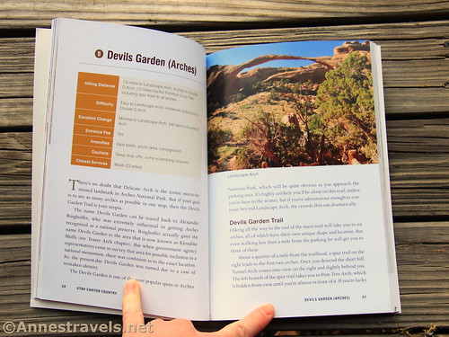 The title page for the Devils Garden Trail in Arches National Park, Utah Canyon Country, Laurie J. Schmidt