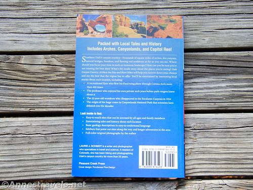 Back cover of Utah Canyon Country: 20 Must-see Sites and Short Hikes by Laurie J. Schmidt