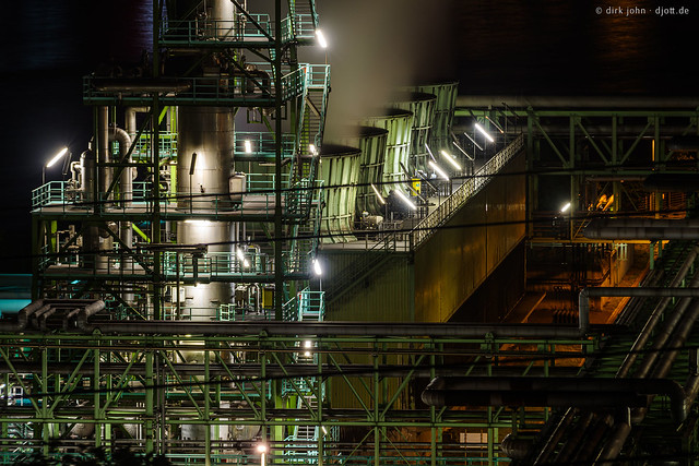 Some industrial night shots - Nachtaufnahmen Industrie 1