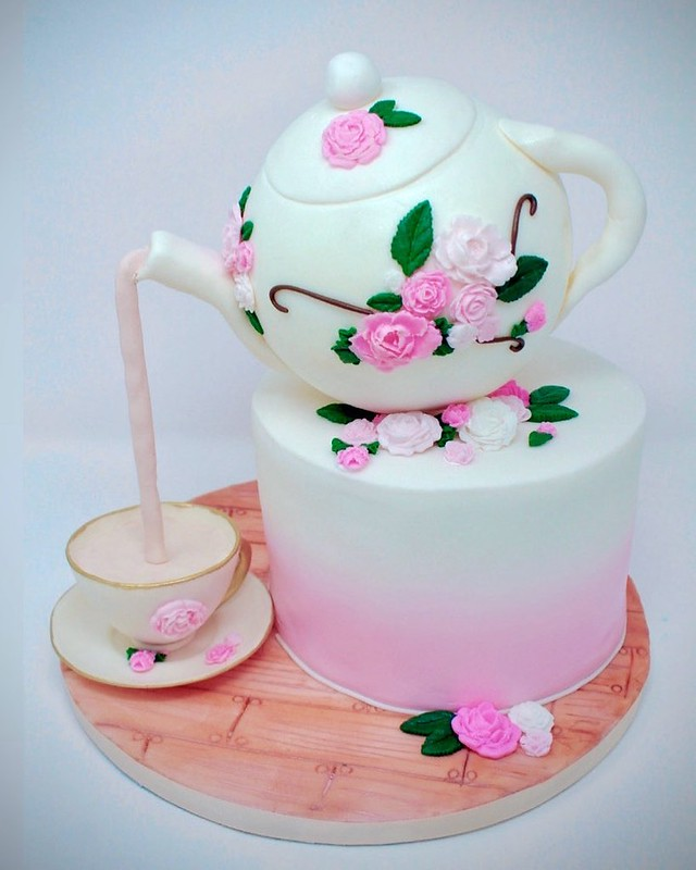 Tea Party Cake by Sweet Bite Cake Shop