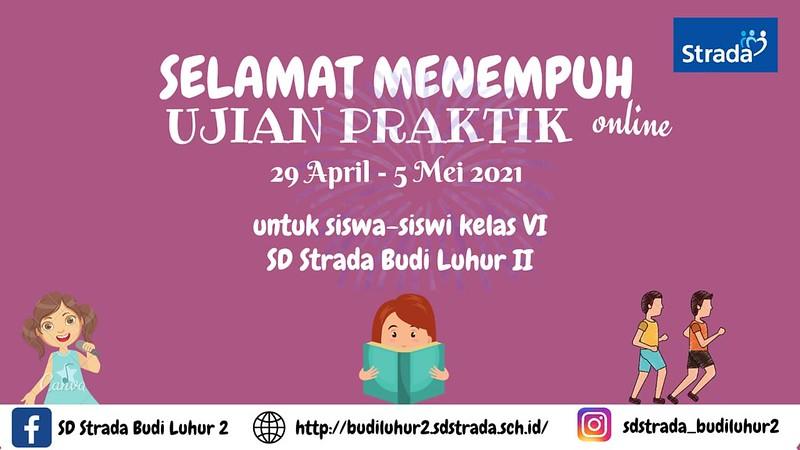 SD Strada Budi Luhur II Siap Melaksanakan Ujian Praktik