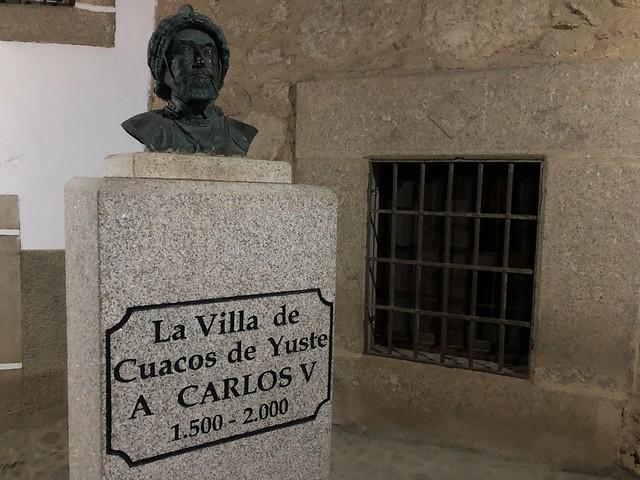 Busto de Carlos V en Cuacos de Yuste (Cáceres)