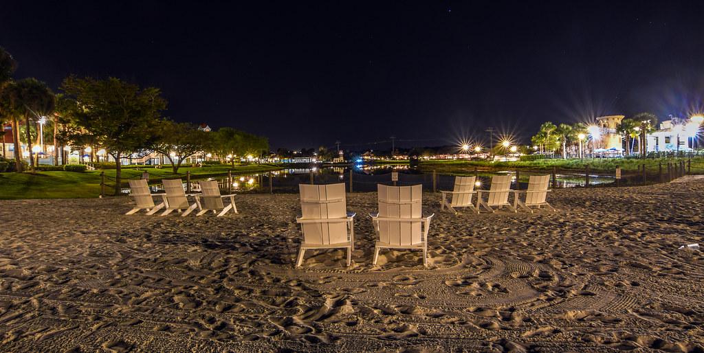 Riviera beach night