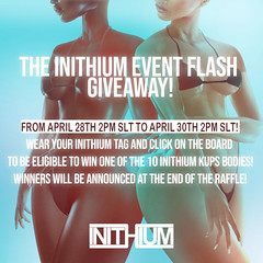 The Inithium Event - Flash Giveaway 2!