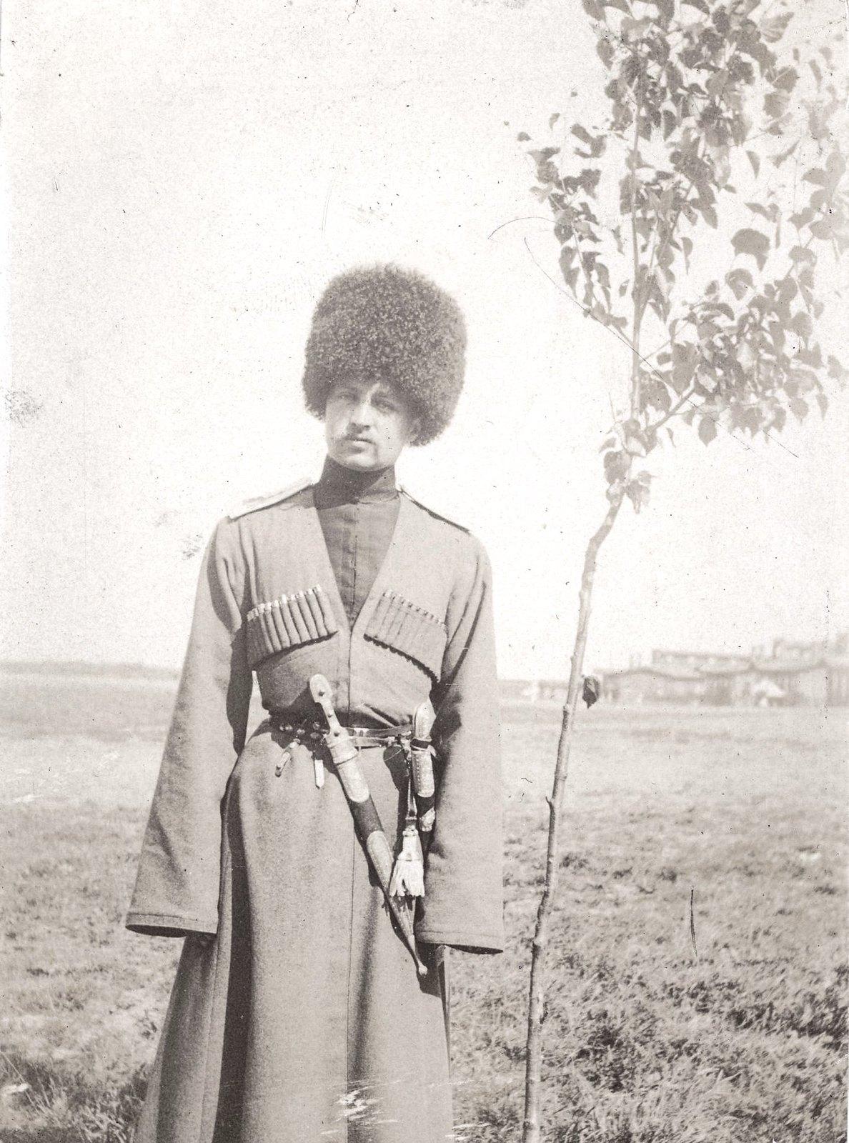 1904. Греве А.А.в форме Терско-Кубанского конного полка