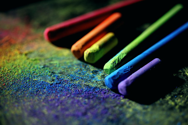 LGBT Dark Rainbow Chalks Wallpaper 2020