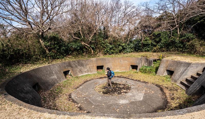 砲台山の砲台跡