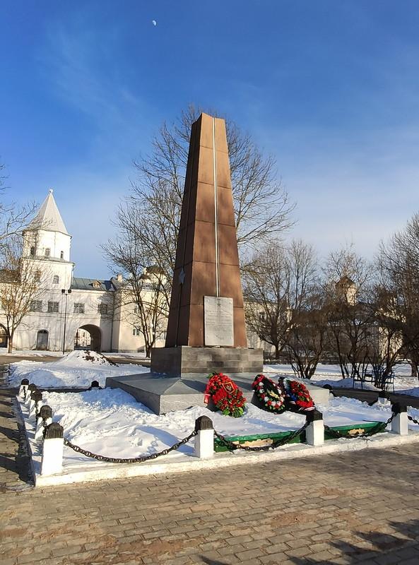 Великий Новгород - Памятник Герасименко, Красилову и Черемнову